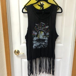 Torrid Size 3 Graphic Beaded Tank